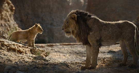 Chiwetel Ejiofor and JD McCrary in The Lion King (Disney/tNS)