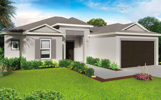 An artist's conception of the Violeta, a new design offered at Arrowhead Reserve in Immokalee.