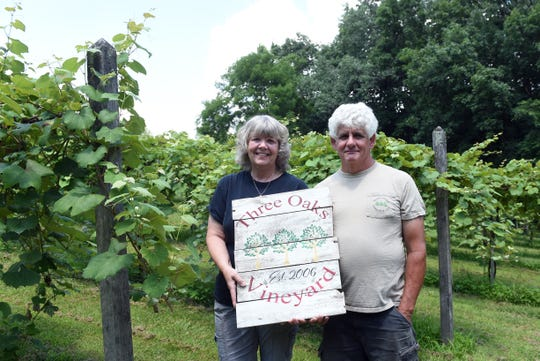 Diana and Pete Hooverman opened Three Oaks Vineyard in Granville in 2012. Diana bought nine vines and now there are have over 800 vines on a portion of their 14 acres property.