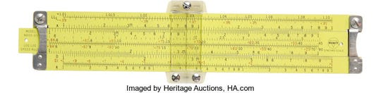 In September 2007, Heritage Auction auctioned the slide rule that Apollo 11 astronaut Buzz Aldrin took to the moon. It sold for $77,675.