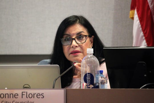 District 6 Councilor Yvonne Flores during the Las Cruces City Council meeting on Monday, July 15, 2019.