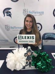 Livonia Stevenson's Lexis Cholette will join the Michigan State University Pom team.