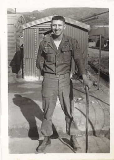 Manny Quiñonez poses for a photo while serving in Korea with the U.S. Army in 1955.