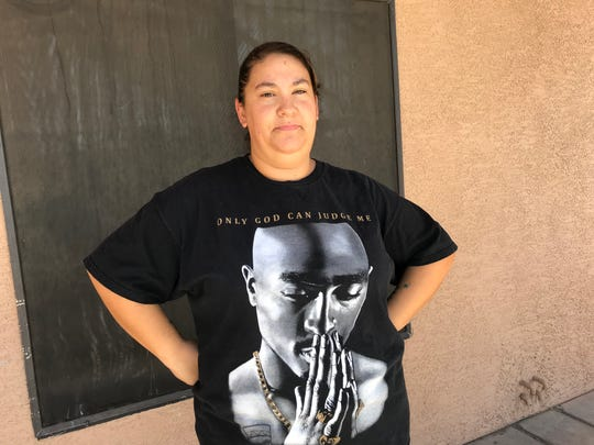 Family Dollar store employee Andrea Thundercloud has worked without air conditioning for three weeks