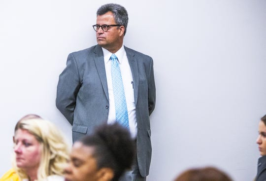 Franklin Lambert waits to speak to the Arizona Board of Funeral Directors and Embalmers in Phoenix, Tuesday, July 16, 2019.  Lambert, who owns Family Burial and Cremation in Mesa, lost his funeral-directing license in May.