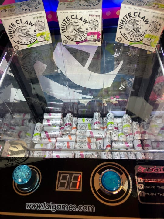 The White Claw Claw Game machine is at El Hefe in Scottsdale. Customers can play the game free of charge for the chance to receive a discount on a White Claw from the bar.