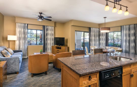 Guests at Legacy Golf Resort can relish the resort's beautifully appointed studio, one- and two- bedroom resort suites, which comfortably sleep four to eight guests.