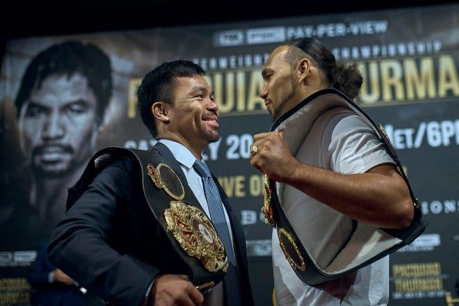 Manny Pacquiao y Keith Thurman pelearán este sábado en Las Vegas.