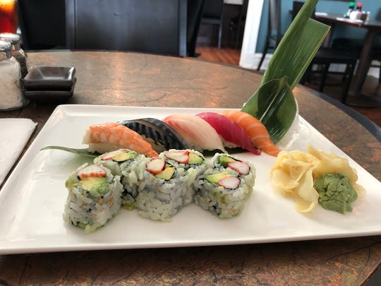A sushi sampler from Misago Bistro in West Lebanon Township.