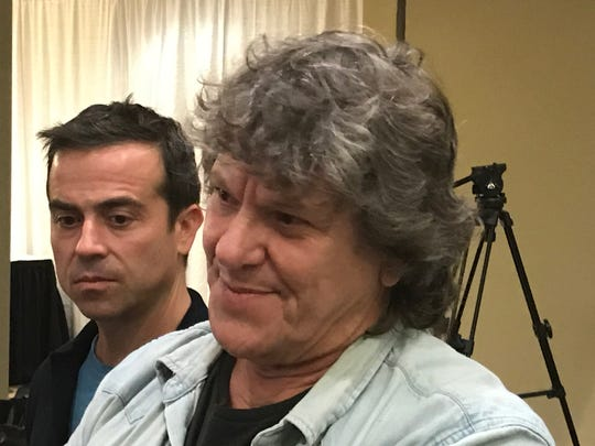 Woodstock 50's Greg Peck, left, and Michael Lang.