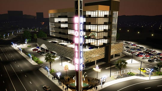 A rendering of Jacobs Entertainment's Reno Neon Line project in downtown.