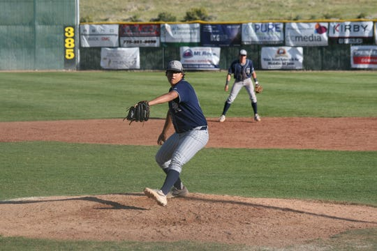 Damonte Ranch's Jadon Bercovich pitches in a high school baseball game last spring.