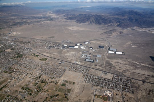 An aerial shot of the Crossroads Commerce Center in Fernley, since renamed the Victory Logistics Center.