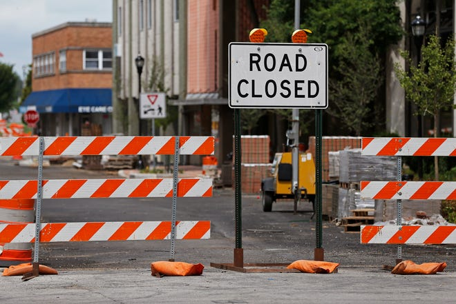 East Main Street in the 500 and 600 blocks is expected to reopen to traffic later this week.