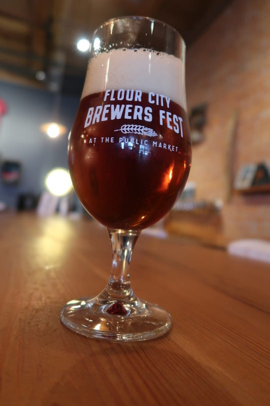 The VIP glass for this year's Flour City Brewers Fest at the Rochester Public Market.