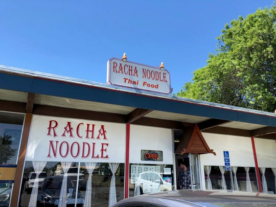 The entrance in May 2019 to Racha Noodle on South Market Street in Redding.