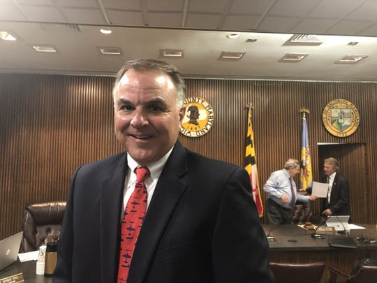 Joe Collins poses in the Wicomico County Council Chambers on July 16, 2019.
