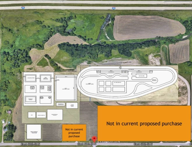 City Hall is proposing to build its new public safety training center on farmland northeast of Sioux Falls.