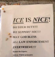 Flyers reportedly from the Ku Klux Klan were found last weekend in Waynesboro, police said.