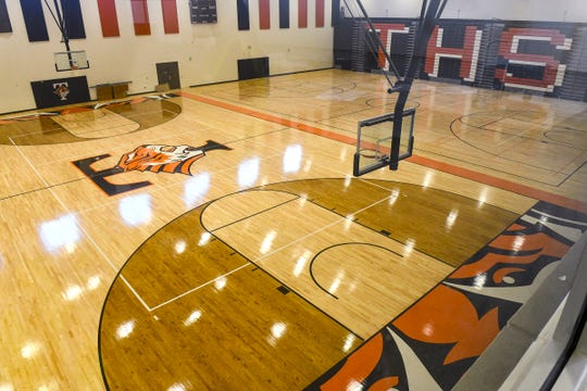 The main gymnasium area at Tech High School is pictured Tuesday, July 16, in St. Cloud.