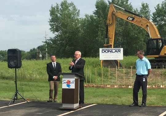 Gov. Tim Walz spoke at the Toppan Merrill's groundbreaking ceremony for  their 70,000-square-foot expansion on Tuesday, July 16, 2019.