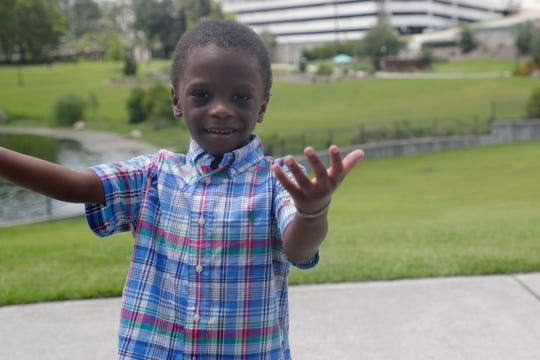 Kaden Jones, 3, plays in Cascades Park Monday, July 15, 2019. After being diagnosed with dilated cardiomyopathy, the toddler and his mother, Erica Shields, waited 6 months for a heart transplant that finally came on April 6.