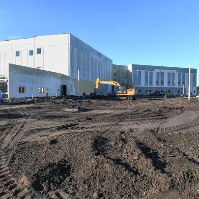 The new St. Lucie Public Schools administration building, seen Tuesday, July 16, 2019 in Port St. Lucie, is a 112,000-square-foot space located at 9461 Brandywine Lane, in the northwest corner of St. Lucie West Boulevard and Interstate 95, and could be completed in August 2019.
