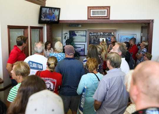 Leisure Square pool supporters crowd City Hall during a City Council meeting on Tuesday, July 16, 2019, in Vero Beach. In a 2020 city budget workshop last week, the City Council decided to pull the plug on the swimming pool at Leisure Square.