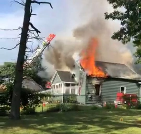 A fire gutted a home in the 1600 block of South Main Road in Vineland. July 16, 2019