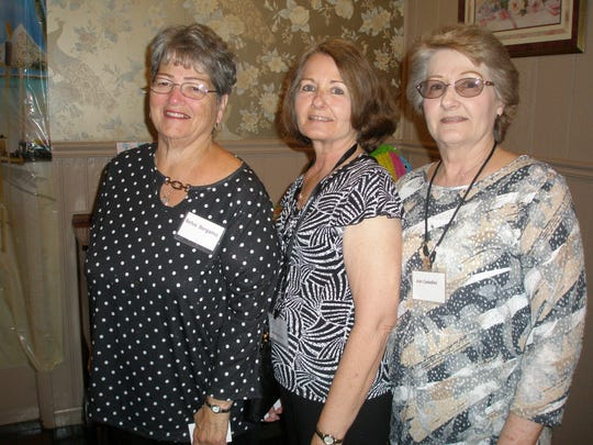 The annual Prudential Reunion, for former employees of the tri city office, was held recently at the Buena Vista Country Club. There were 131 attendees. The reunion is held each year on the first Tuesday in May. To be added to the invitation list, call (856) 696-0529. (From left) Belva Bergamo, Jean Benskin and Joan Castellini, all from Vineland, were among the attendees at this year's event.