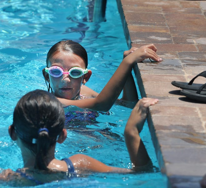 Kids enjoyed beating the heat while swimming at Harrel Park pool. The National Weather Service said to expect heat index values to range from 100 to 108.