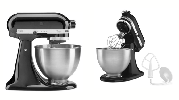 A KitchenAid Stand Mixer in Onyx