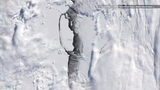 Glaciologists stitch the images together. Scientists wonder what the fate of this massive iceberg will be as it drifts towards warmer waters.