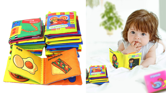 This Coolplay cloth book sets allows your kids to learn in a fun way