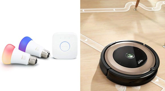 These Hue and iRobot products both work with Google Assistant, and they're deeply discounted for Prime Day.
