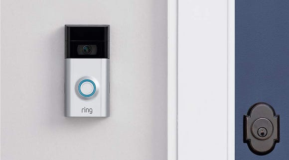 The Ring Video Doorbell 2 keeps an eye on your home using 1080 high-definition video and infrared night vision.