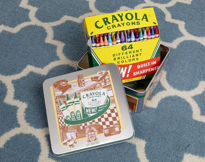 Crayola 60-anniversary collectible tin set
