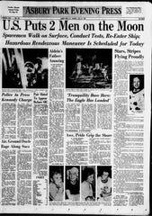 Asbury Park Press front page Fri., July 21, 1969