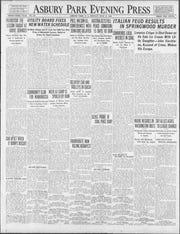 Asbury Park Press front page Mon, Jul 21, 1919