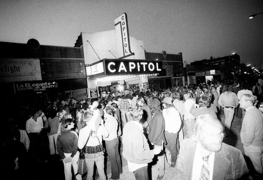 The scene outside the Capitol Theatre in Passaic on June 14, 1978, before the Rolling Stones show.