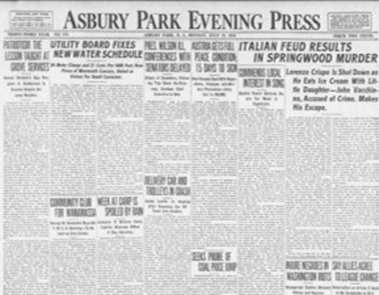 July 21 1919 front page