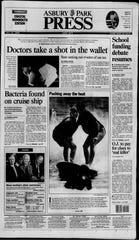 Asbury Park Press front page Fri., July 21, 1994
