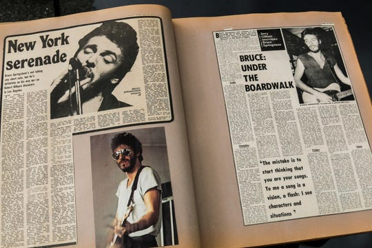 Personal scrapbook made by Bruce Springsteen's mother, Adele.
