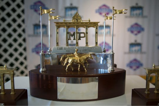 Monmouth Park holds the post position draw and press conference for the $1million TVG.com Haskell Invitational. 