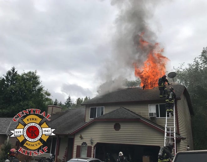 Crews responded to a fire on Huckle Drive in Tracyton on Wednesday.