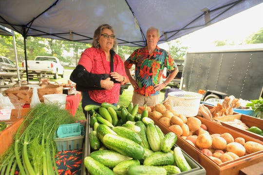 Linda and Mike Kazulen have been part of the Black Mountain Tailgate Market, which will celebrate its 25th anniversary on July 20, since the beginning. They still sell fresh produce from Linda and Mike's Produce at the weekly market every Saturday.