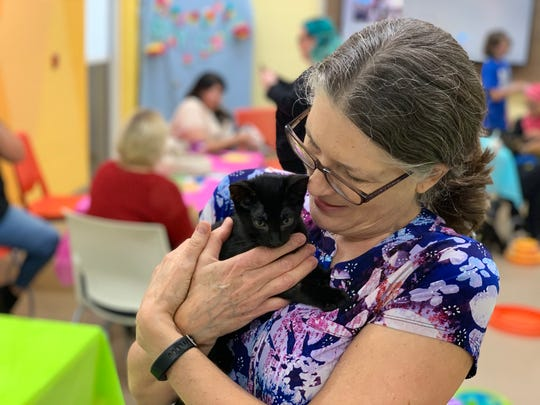 More than a dozen people from the community came out to the Gulf Coast Humane Society in Corpus Christi on Tuesday, July 16, 2019. The shelter hosted an event to encourage people to meet and play with animals looking to be adopted.