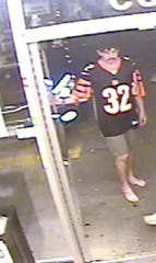 "Police released this photo of a suspect they're calling the ""barefoot beer bandit."""