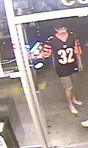 """Police released this photo of a suspect they're calling the """"barefoot beer bandit."""""""