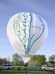 The MS MindShift Brain Bulb wheelchair accessible hot air balloon will be featured at the festival.